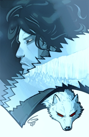 Jon Snow illustrated by Grant Gould.