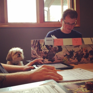Yavin assisted with game preparations.