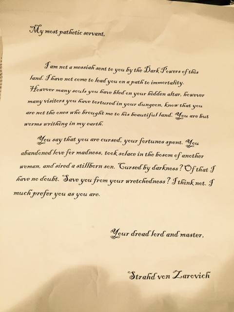 Strahd S Letter