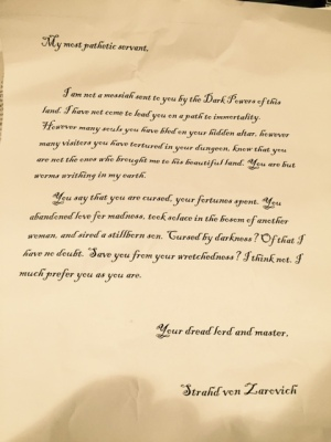 Strahd Letter to Dursts