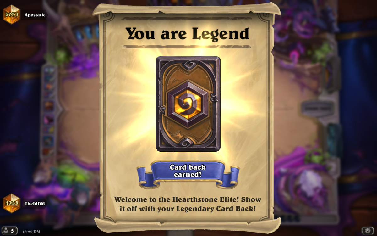 Climbing to Legend & Managing Anger in Hearthstone